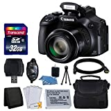 Canon PowerShot SX60 HS Full HD 60p Video Digital Camera + Case + Extra Battery + 32GB Class 10 Card Complete Deluxe Accessory Bundle And Much More