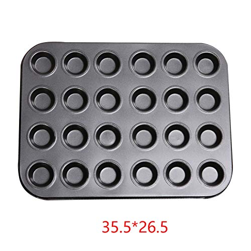 Mini Muffin Pan Non Stick Premium Coated 24 Mini Cup Muffin Tray Carbon Steel for Muffins or Cupcakes 355265cm Muffin Tin