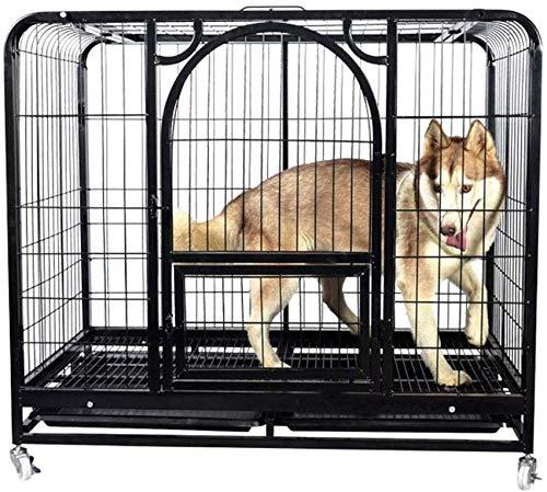 KKLLL Jaula de Metal para Perros, Puertas y Perros, Jaula de ...