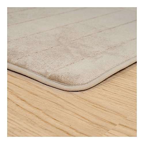 Beige Memory Foam Long Bath Mat 24 inches x 60 inches Soft from Unknown