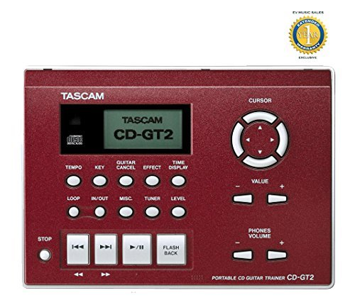 Tascam CD-GT2 Portable CD Guitar Trainer with 1 Year Free Extended Warranty (Mastering Matrices compare prices)