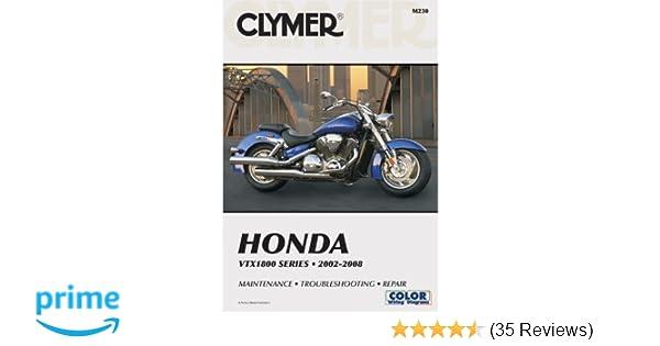 clymer honda vtx1800 series 2002 2008 maintenance troubleshooting rh amazon com Honda VTX 1800 Review 2008 honda vtx 1800 service manual