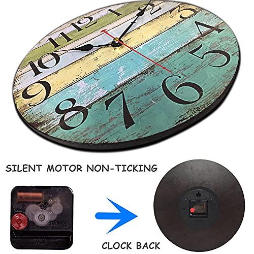 Retro Wooden Decorative Beach Clock (12inch)