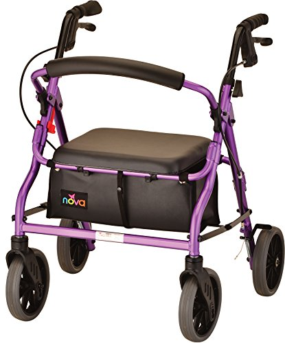 NOVA Zoom Rollator Walker with 18