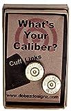 45 Colt Winchester Brass Finish Cuff Links