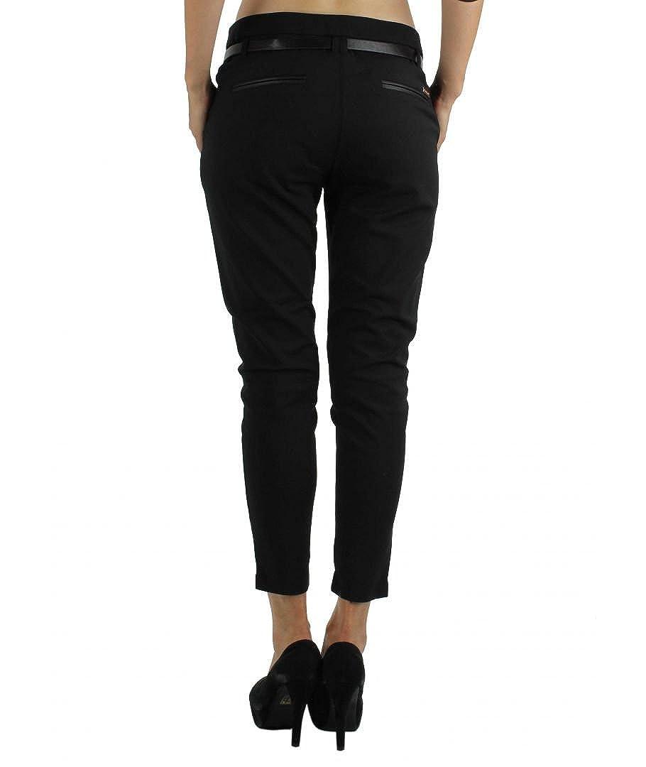 442338672b347 5ème Saison - Pantalon coupe 7/8 taille haute Chic et Jeune. - Femme:  Amazon.fr: Vêtements et accessoires