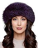 Violet Fox fur Headband