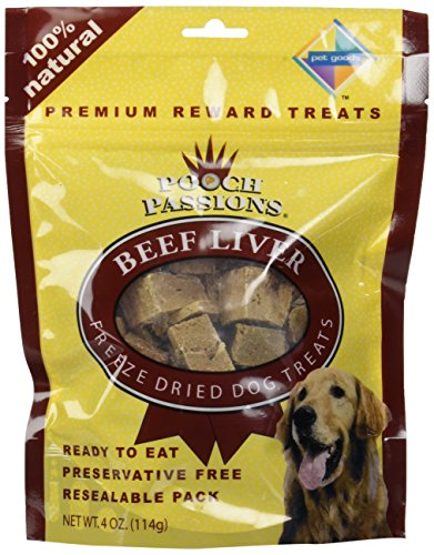 Pooch Passions Freeze Dried Liver Dog Treat Quantity: 4-oz (Pooch Liver Treats)
