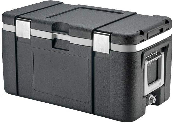 LIYANLCX Refrigerador para automóvil portátil Caja de enfriadoras de 50L con Cofre de Hielo, Comercial de Alto Rendimiento para Viajes y campamentos, Pesca en el mar