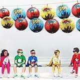 Blulu 6 Pieces Hero Hanging Paper Lanterns Hero