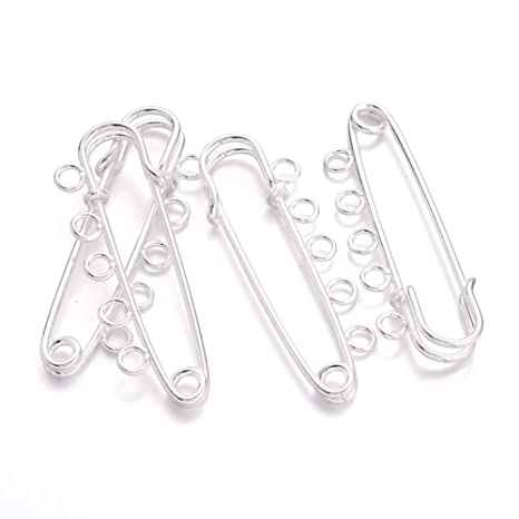 7 Size Steel Safety Pin Large 54mm-19mm Durable Sewing Accessories Kit for Baby Clothing Crafts Arts 562 PCS Safety Pins Assorted