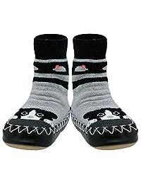 Konfetti Cat 'n Mouse Slipper Sock Swedish Moccasin