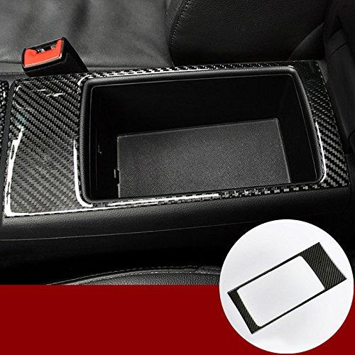 wroadavee Carbon Fiber Console Armrest Storage Box Frame Cover Trim for Audi A3 S3 2014-2018