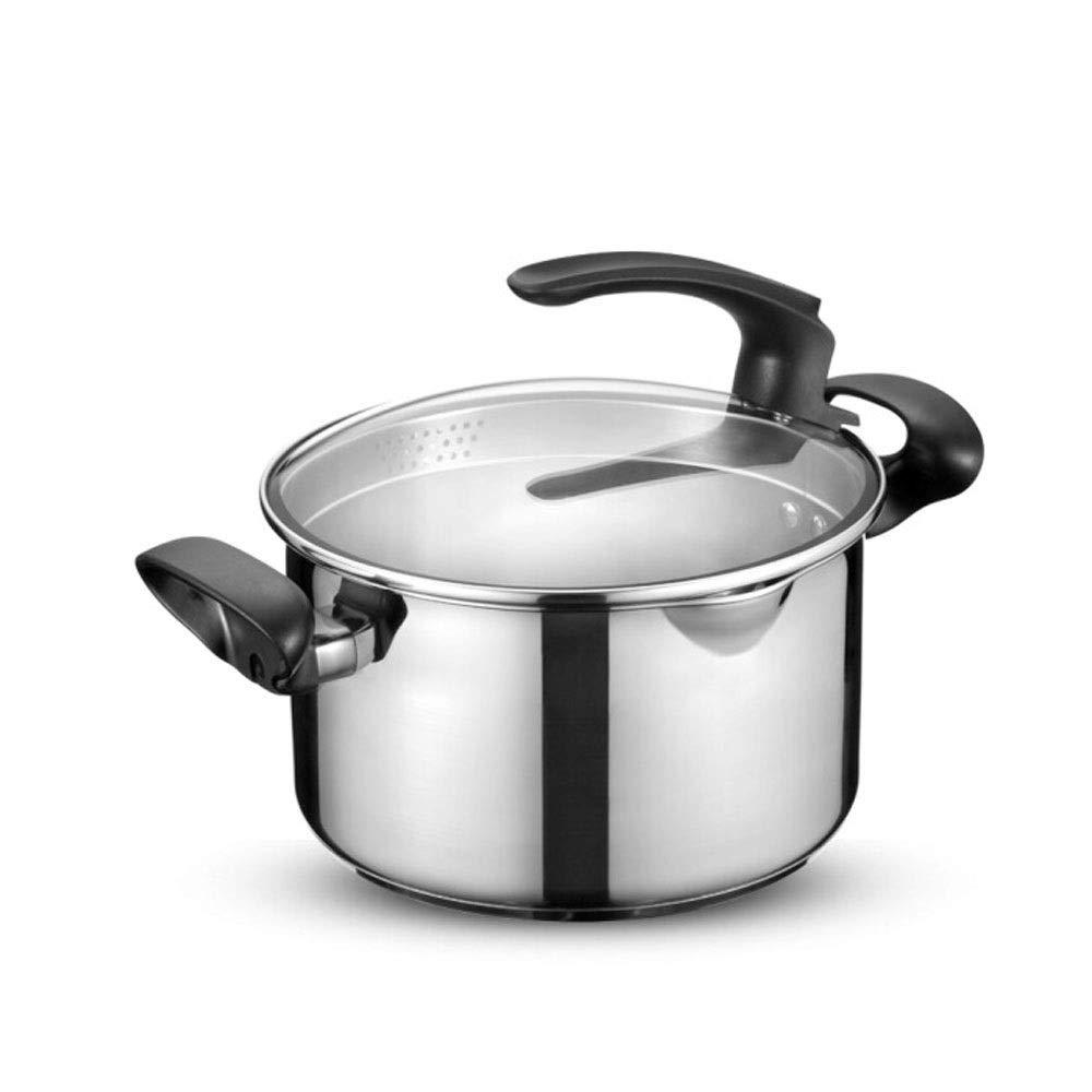 24センチステンレス鋼直立スープ鍋、ステンレス鋼ストック鍋、電磁調理器ユニバーサル、高品質、最高の贈り物   B07SJN8M81