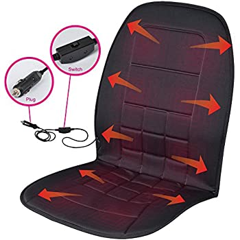 wagan in9438 12v heated seat cushion with lumbar support black velour automotive. Black Bedroom Furniture Sets. Home Design Ideas