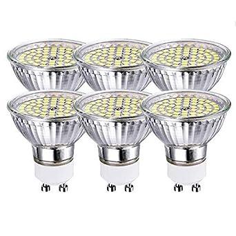GVOREE Bombilla LED GU10 5W Equivalente a 50Watt Lámpara Incandescente Blanco Frio 6000K 420lm Ángulo de