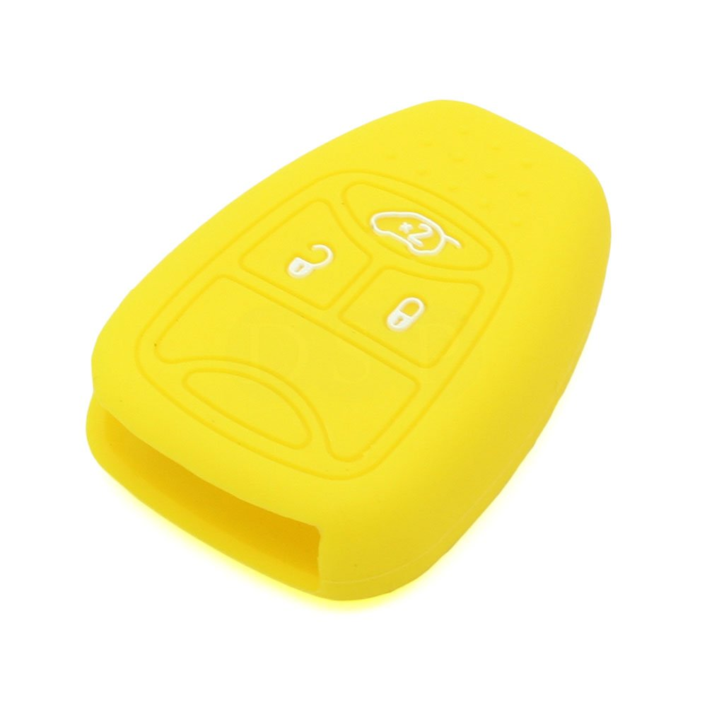 SEGADEN Silicone Cover Protector Case Holder Skin Jacket Compatible with CHRYSLER DODGE JEEP Remote Key Fob CV4751 Light Blue