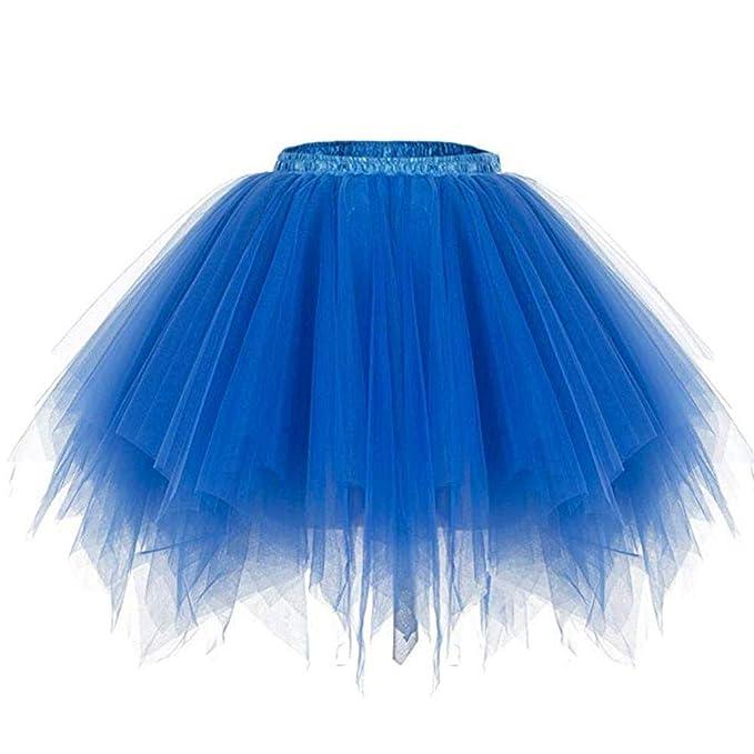 179799f26 Bwiv Enaguas Cortas para niñas Gasa Faldas Cancan Faldas de Tul ...