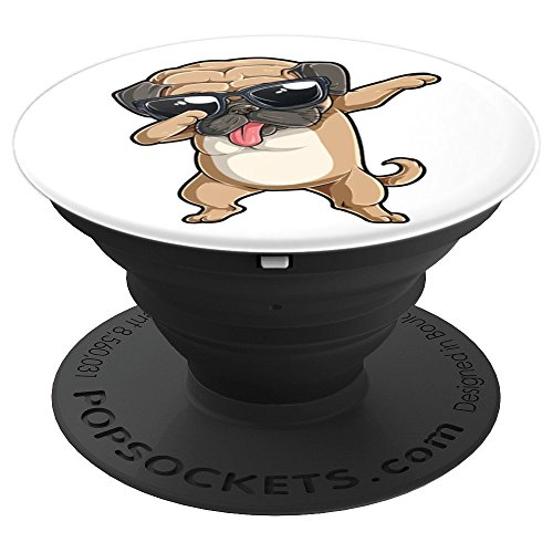 Dabbing Pug Funny Boys Girls Dab Dance Dog Puppy Lovers Gift - PopSockets Grip and Stand for Phones and Tablets