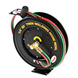 "GHP Business/Industrial 50 ft 1/4"" Retractable Welding Torch Hose Steel Reel"