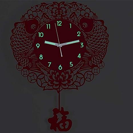 JINPAI 40 * 55 Cm Moda Luminosa GráFicos De Pared Creativos Reloj De Pared Reloj De Pared Sala De Estar Reloj De Cuarzo Silencioso para Enviar Fu Swing Bar ...