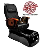 Shiatsulogic Pedicure Spa VIGGO 5112 BLK TUB NO DISCHARGE PUMP Pedicure Chair