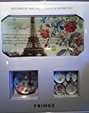 Fringe Decorative Glass Tray Paperweight and Magnet Set PARIS EIFFEL TOWER