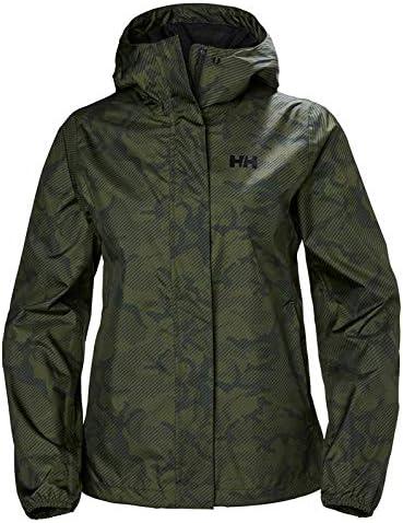 Helly Hansen Bray Lightweight Hooded Waterproof Windproof Breathable Print Shell Rain Coat Jacket