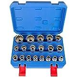 Gear Lock dentado, Torx llaves de vaso Herramientas 19piezas exterior interior Nueces//GearLock llaves