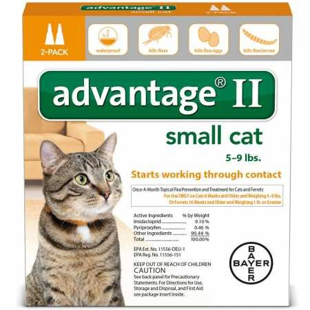 Bayer Animal Health 2 MONTH Advantage II Flea Control Small Cat (for Cats 59 lbs.)