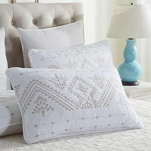 2 Pack Pillowcases - Standard Size , Pillow Shams Cover  Whi