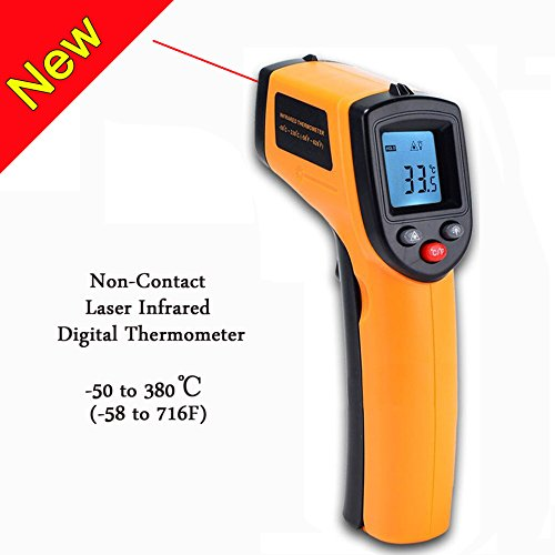 V-Resourcing Non-contact LCD Laser Infrared Digital Temperature Gun -50 ~ 380℃(-58 ~ 716℉), Instant-read Handheld IR Infrared Thermometer with Backlight by V-Resourcing