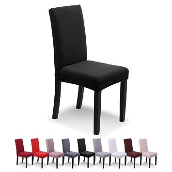 SaintderG® Fundas para sillas pack de 6 fundas sillas comedor, Lavable Extraíble comedor Extraíble funda, muy fácil de limpiar, duradera Modern ...