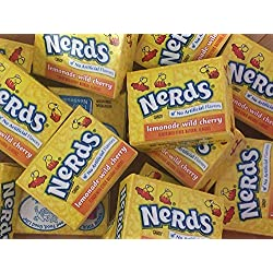 Wonka Nerds Mini Boxes Lemonade Wild Cherry ALL YELLOW Candy 3 Pounds 93pc