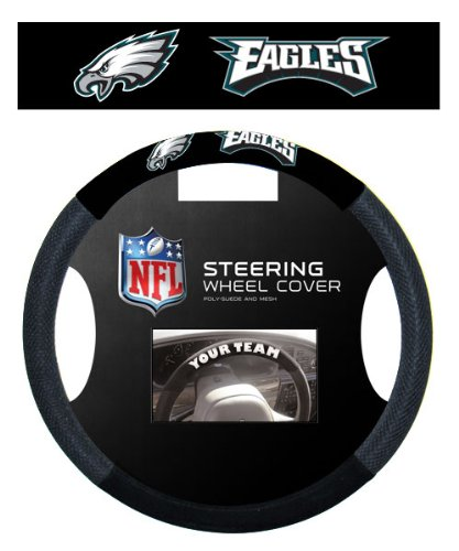 - Fremont Die NFL Philadelphia Eagles Massage Grip Steering Wheel Cover, One Size, Black