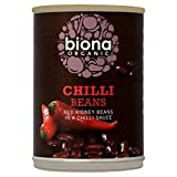 Biona Organic Red Kidney Beans in Chilli Sauce 400g (Pack of 6)