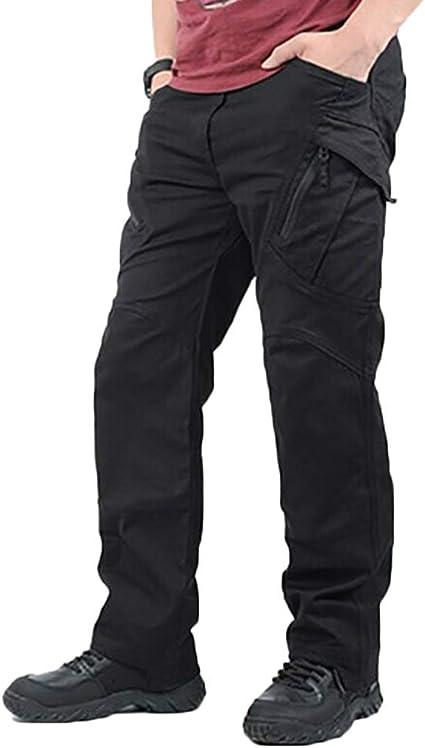 Hommes Extérieur Imperméable Cargo Combat Pantalon de Travail Tactique Randonnée