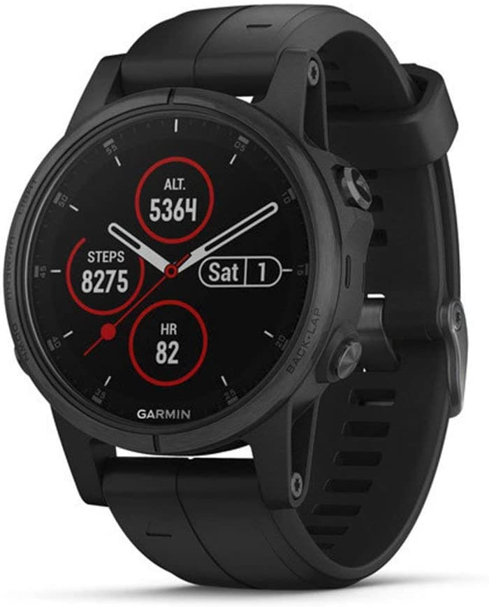 Garmin Fenix 5s Plus, Smaller-Sized Multisport GPS Smartwatch, Features Color TOPO Maps, Heart Rate Monitoring, Music and Garmin Pay, Black (Renewed): GPS & Navigation