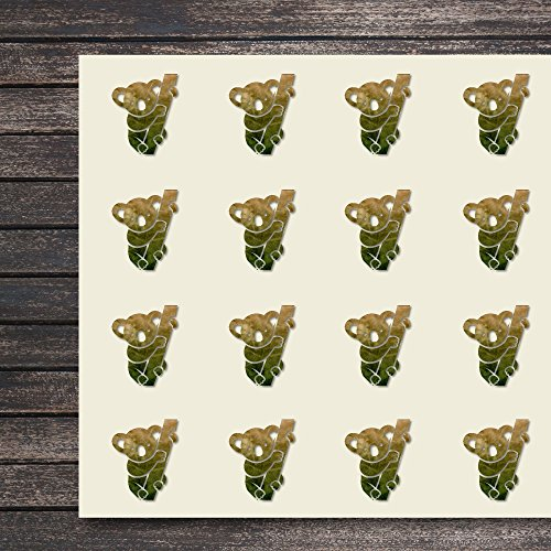 Koala Bear Craft - Koala Australia Mammal Herbivore Bear Craft Stickers, 44 Stickers at 1.5 Inches, Great Shapes for Scrapbook, Party, Seals, DIY Projects, Item 433956