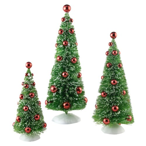 Snowbabies Classics Trees with Red Ornaments Set 3 Tree, 9.75-Inch