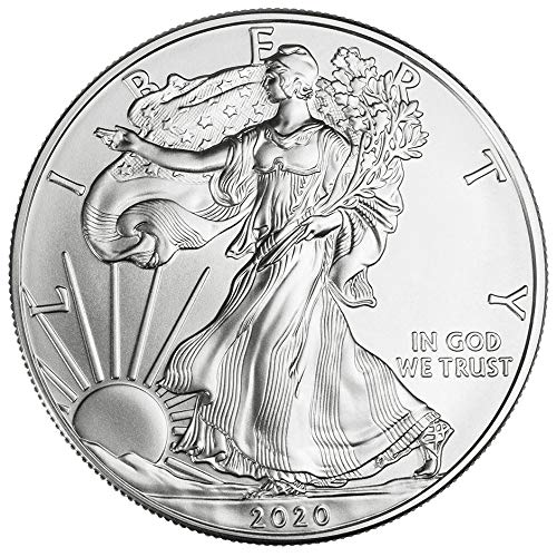 2020 American Silver Eagle $1 Brilliant Uncirculated US Mint Box
