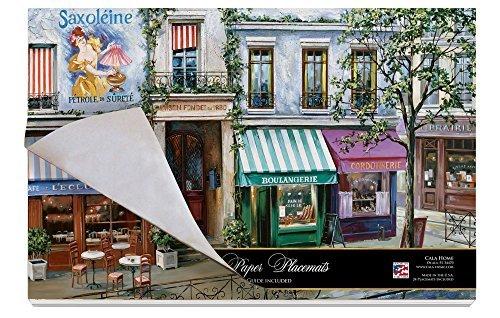 Cala Home 24-Pack Disposable Paper Placemats, Village Square