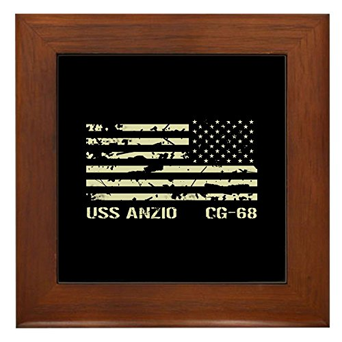 CafePress - USS Anzio - Framed Tile, Decorative Tile Wall Hanging