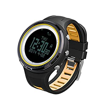 Strong Resistance To Heat And Hard Wearing Sunroad Outdoor Sports Digital Men Watch-stopwatch Waterproof Altimeter Barometer Compass Pedometer Watches Clock Men yellow