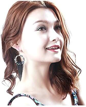 RuSong Fashion Handmade Bohemia Swarovski Earrings Fine Jewelry Set Folk Tassel Accessories