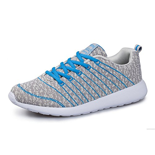 NELSON KENT Mens Fashion Casual Running Sneakers Slip-on Walking Shoes for Students Gray Blue hc73GRm