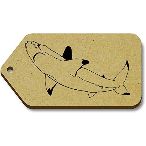 10 34mm Regalo equipaje X Etiquetas 66mm 'tiburón' tg00008809 Azeeda qwUdCq