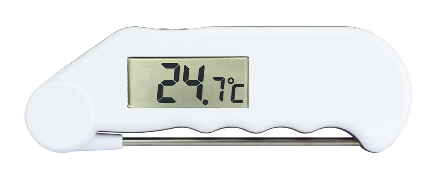 Gourmet water resistant folding probe thermometer (White) ETI Ltd