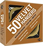 Closet Complete Premium Heavyweight, Velvet Suit Hangers – Ultra-Thin, Space Saving, No-Slip, Best For Dresses, Suits & Shirts - Camel, Set of 50