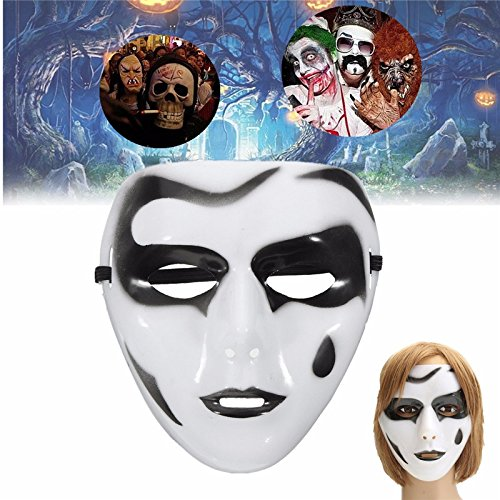 Halloween Costume Mask - Zombie Halloween Mask - 1 Piece Scary Mask Halloween Party Ball Masquerade Carnival Prop Costumes Gift - Scary Halloween (Movable Masks)